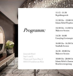 nisma x Jumeirah Pop up Store - Programm
