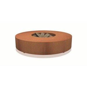 Vuurtafel CorTenstaal VLS2 (Ø175cm x 28cm)