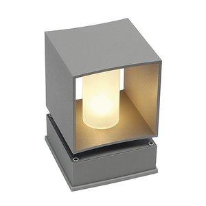 SLV Square Turn Floor zilvergrijze buitenlamp