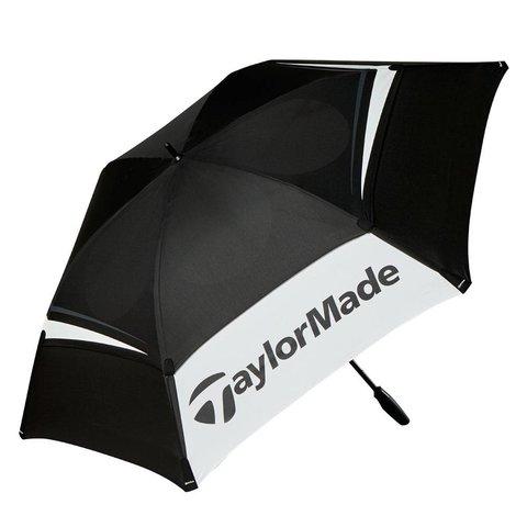 """68"""" Double Canopy Golfparaplu - Zwart Wit Grijs"""