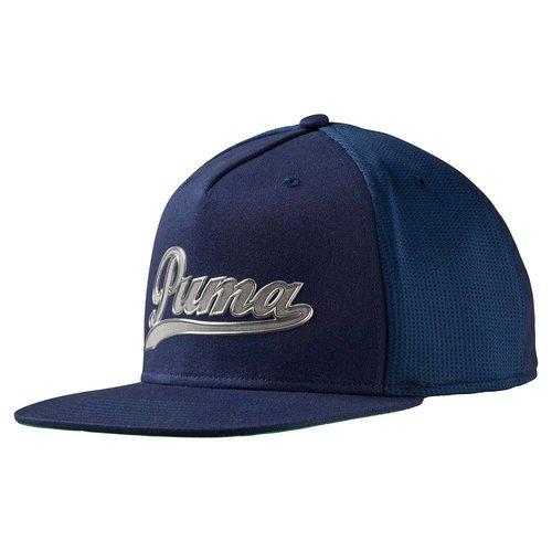 Puma Script Snapback Cap - Blauw Zilvergrijs