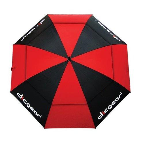 Clicgear 68 inch Double Canopy Golfparaplu - Rood Zwart