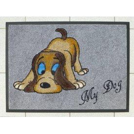 """Schmutzfangmatte - """"Hund""""- mit Namen"""
