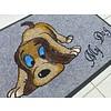 """Logomatte """"Hund"""" mit Namen. (bis max. 8 Zeichen)"""