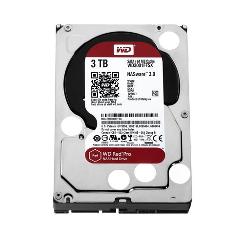 "Western Digital (WDC) 3TB 7.200 rpm 3.5"" SATA 6 Gb/s, WD Red™ Pro"