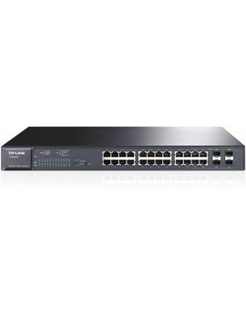 TP-Link 24 Port 10/100/1000 + 4 SFP (24) PoE- 180W - RackMount
