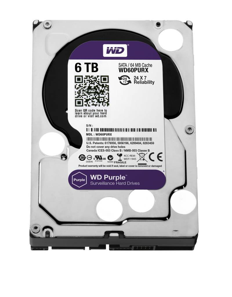 "Western Digital (WDC) 6TB Purple 3.5"" SATA Surveillance HDD"