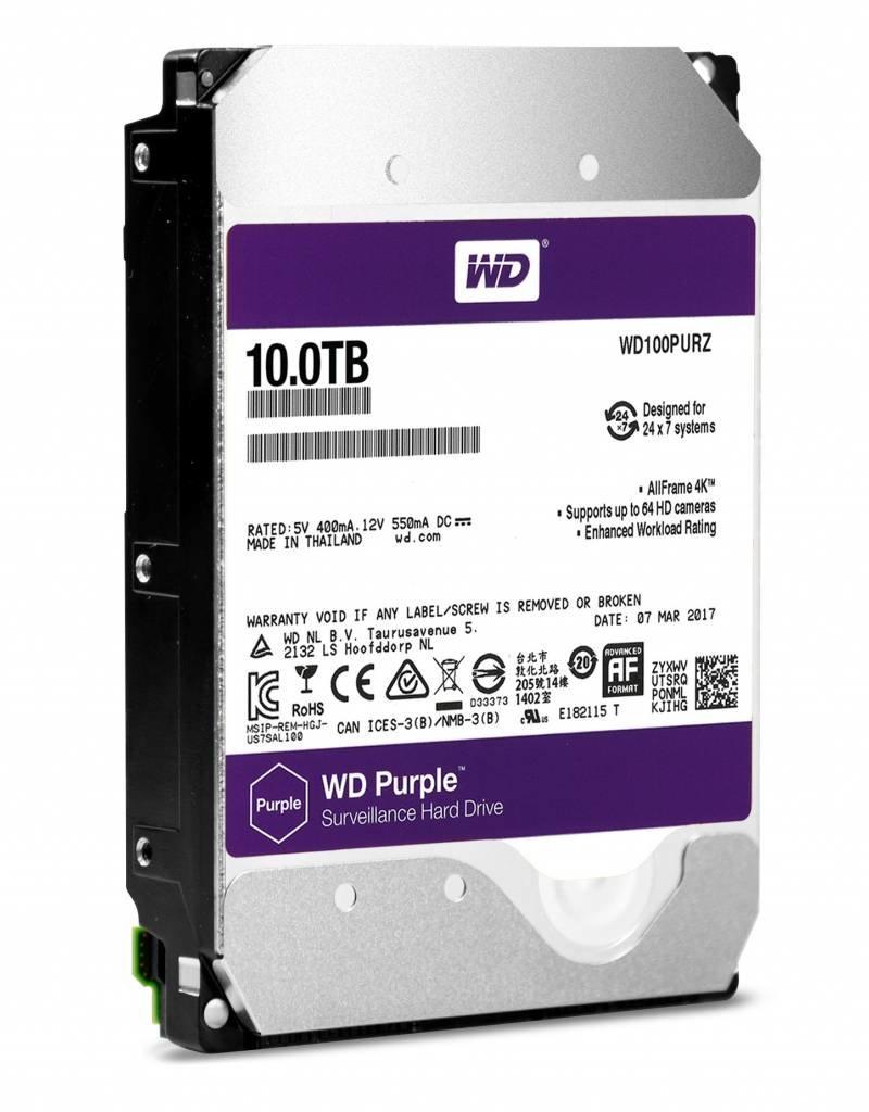 """Western Digital (WDC) 10TB 3.5"""" SATA Surveillance HDD Purple"""