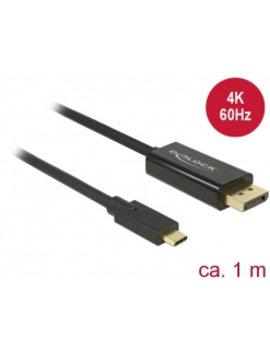 Veiligheid Voor Alles Cable USB Type-C™ male > Displayport male (DP Alt Mode) 4K 60 Hz 1 m black