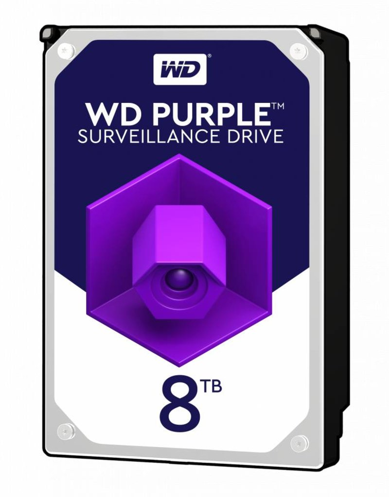 "Western Digital (WDC) 8TB 3.5"" SATA Surveillance HDD Purple"
