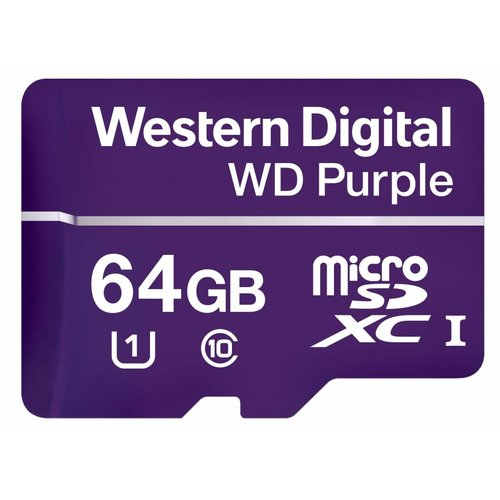 Western Digital (WDC) 64B Purple microSD Card