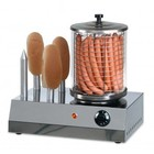 Saro Hotdog Warmer met Broodwarmer - 4 Verwarmstaven - 400x260x(H)420 mm