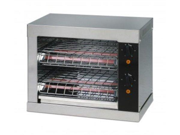 Saro Toaster dubbel 2 klems met tijdschakelaar - 44x26x(H)38cm - 3000W