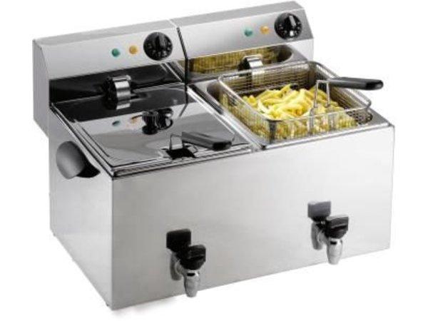Saro Electric Fryer | 2x8 Liter | 2x3,25 kW | 550x450x (H) 340mm