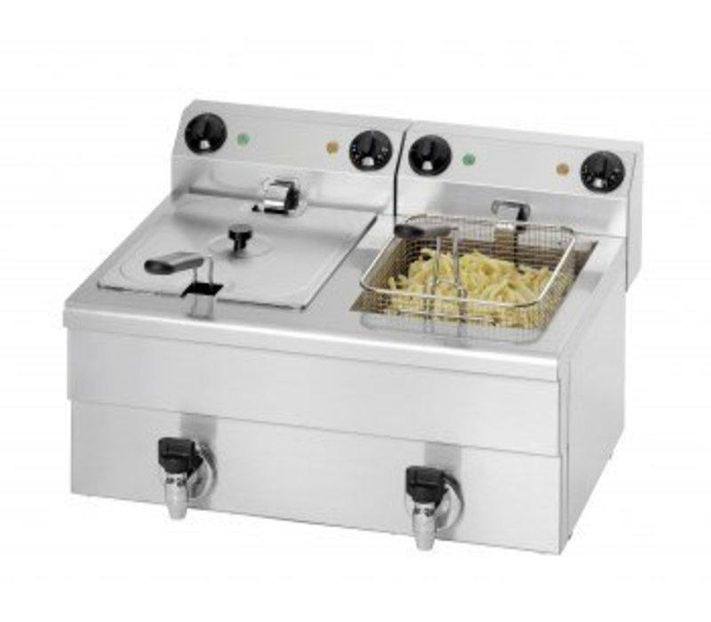 Saro Fritteuse   2x10 Liter   Mit Ablassventil   2x3,25kW   680x515x (H) 300mm