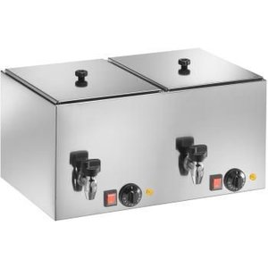 Saro Sausage Warmer Double - With drain valve - 560x350x (H) 290 mm