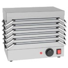 Saro Rechaud - 6 Bleche aus Aluminium - 800W - Edelstahl - 365x245x (H) 310mm