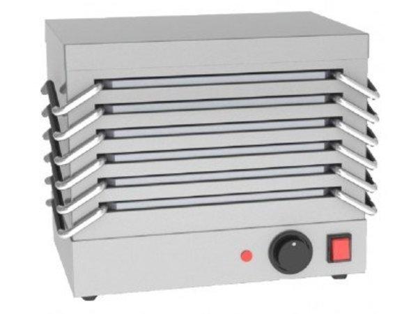 Saro Rechaud - 6 platen van Aluminium - 800W - RVS - 365x245x(H)310mm