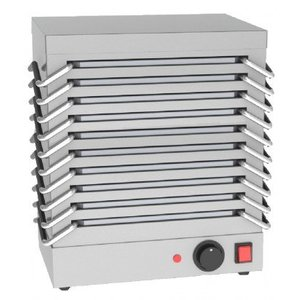 Saro Rechaud for 10 plates - stainless steel housing - 1200W - 365x245x (H) 440mm