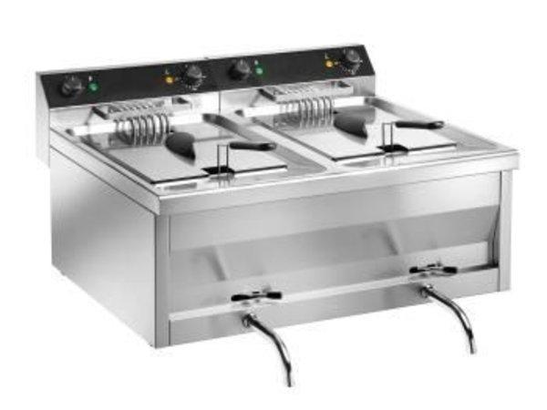 Saro Friteuse Dubbel | Model GASTROLINE | 2x9 Liter | 2x6kW | 400V | 600x540x(H)310mm