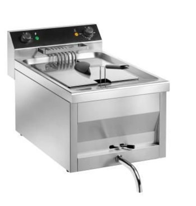 Saro Fritteuse | Modell Gastro Line | Mit Leitungs | 400V | 9kw | 12 Liter | 400x700x (H) 320 mm