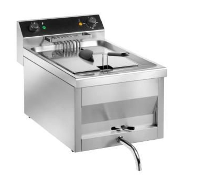 Saro Fritteuse | Modell Gastro Line | Mit Leitungs | 400V | 9kw | 12 Liter | 400x700x (H) 320 mm