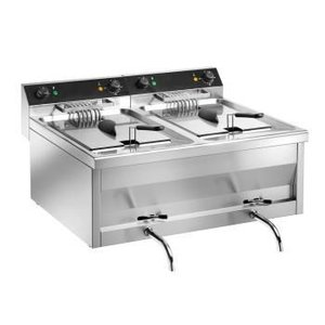 Saro Double Fryer Model | Stainless steel | Gastro Line | 2x12 Liter | 400V | 800x700x (H) 320mm
