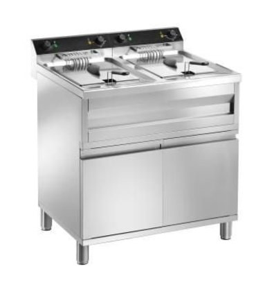 Saro fryer | electric | 2 x 12 Liter | 400V | 2 x 9kW | With drain valve | 800x700x (H) 850mm
