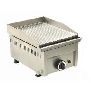 Saro Grillplatte Gas Grooved - 33,5x46x (H) 25 cm - 4 kW