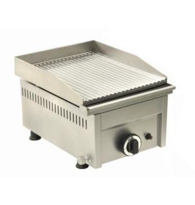 Saro Fry Top Gas Grooved - 33,5x46x (H) 25 cm - 4 Kw