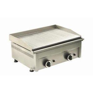 Saro Grillplatte Gas Grooved - 60x46x (H) 25 cm - 6 kW