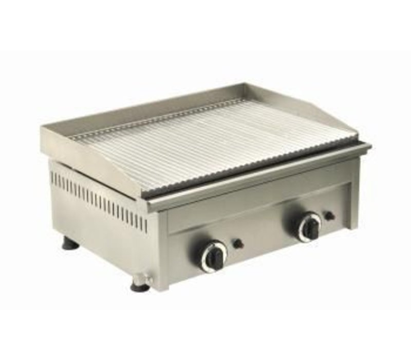 Saro Fry Top Gas Grooved - 60x46x (H) 25 cm - 6 Kw