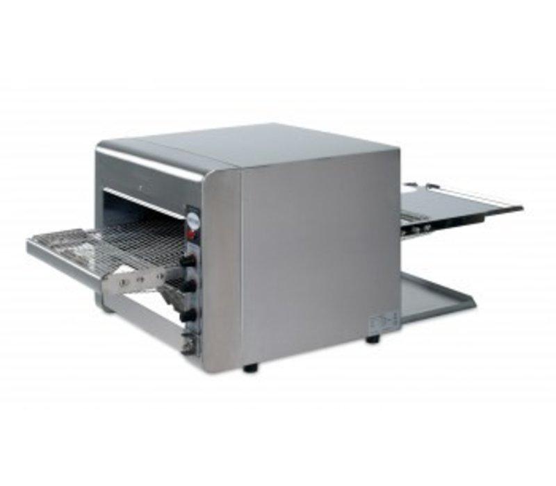 Saro Doorloop quartz toaster - Pro - RVS met variabele snelheid - 47x105x(H)40cm - 3600W