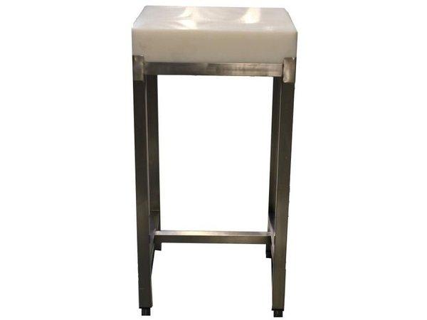 Saro Chopping block on stainless steel Mount - 500x500 X850 (H) + 100mm (height block) - 32 kg