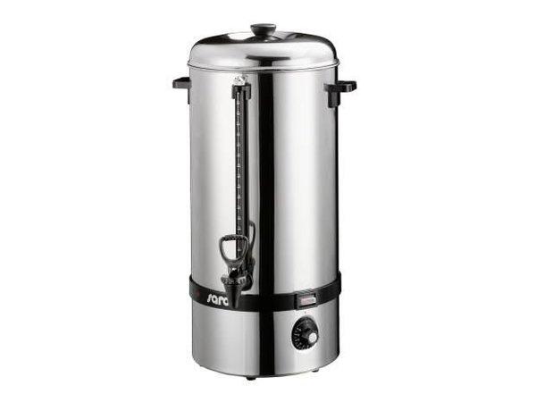 Saro Glühweinkessel / Wasserspender Edelstahl | Ø267mm | Hahn | 19 Liter