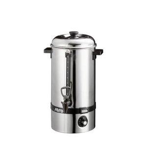Saro Warmwaterketel RVS / Gluhwein ketel   Tapkraan   Ø225mm   10 liter