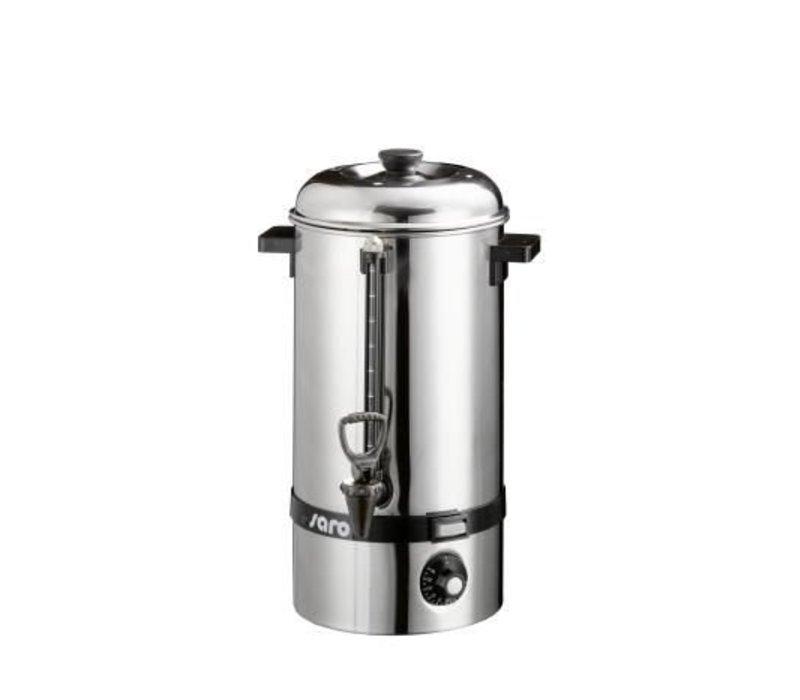 Saro Hot water boiler SS / Glühwein kettle | faucet | Ø225mm | 10 liter