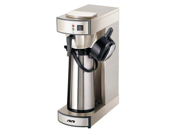 Saro Koffiemachine Thermoskan RVS | Inhoud 2,2 Liter | 1,9kW | 195x360x(H)550mm