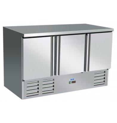 Saro Koelwerkbank - RVS - 3 doors - 137x70x (h) 85cm