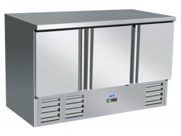 Saro Koelwerkbank - RVS - 3 deurs - 137x70x(h)85cm