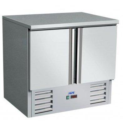 Saro Koelwerkbank - RVS - 2 Deurs - 90x70x(h)85/88cm