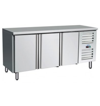 Saro Cool Workbench PRO | 3 Doors Self-closing | 1790x700x (h) 890-950mm | Indoor / Outdoor Stainless Steel