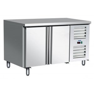 Saro Freeze Workbench Stainless Steel - 2 door - Forced Cooling | Temperature: -10 ° / -20 ° C | 136x70x (h) 89 / 95cm