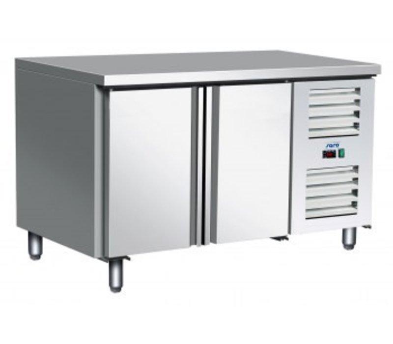 Saro Freeze-Workbench aus Edelstahl - 2 Türen - Zwangskühlung | Temperatur: -10 ° / -20 ° C | 136x70x (h) 89 / 95cm