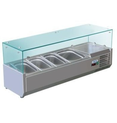 Saro Refrigerated display case design - 5x 1/4 GN - 120x33,5x (H) 43.5 cm