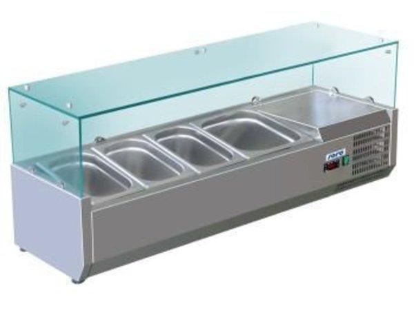 Saro Refrigerated display case design - 5x 1/4 GN - 120x33,5x (H) 43.5 cm