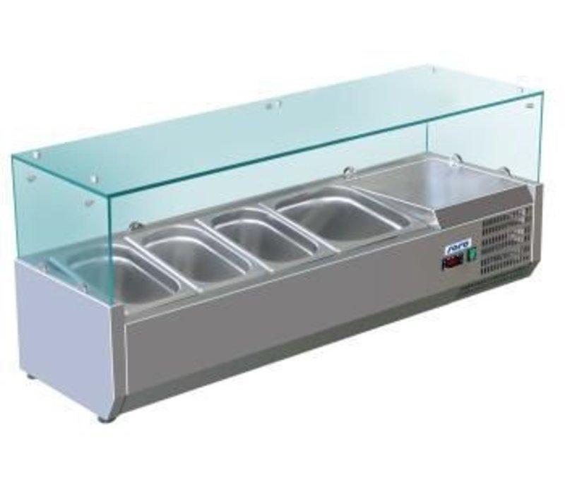 Saro Kühlvitrine Design - 5x 1/4 GN - 120x33,5x (H) 43.5 cm