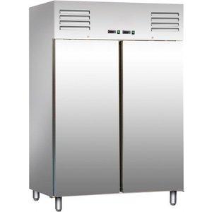 Saro Stainless Steel Kühl- / Gefrierschrank 2 x 537 Liter - 134x65x (h) 138cm - 2 Jahre Garantie