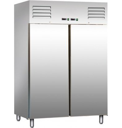 Saro Stainless Steel Fridge / Freezer 2 x 537 Liter - 134x65x (h) 138cm - 2 years warranty