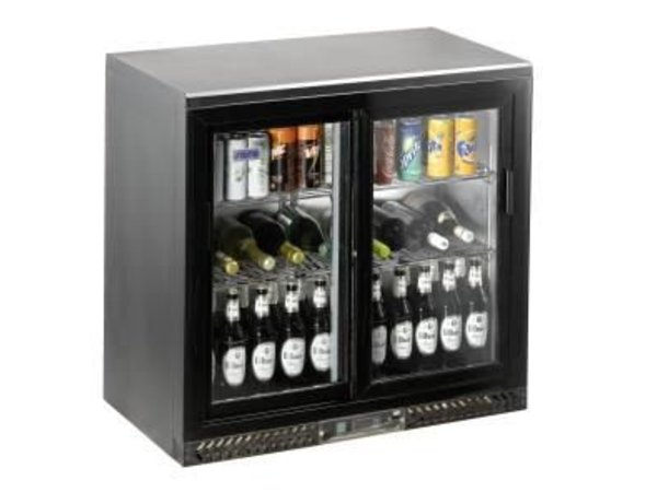 Saro Bar Cooler with Sliding Doors SC 250 SD